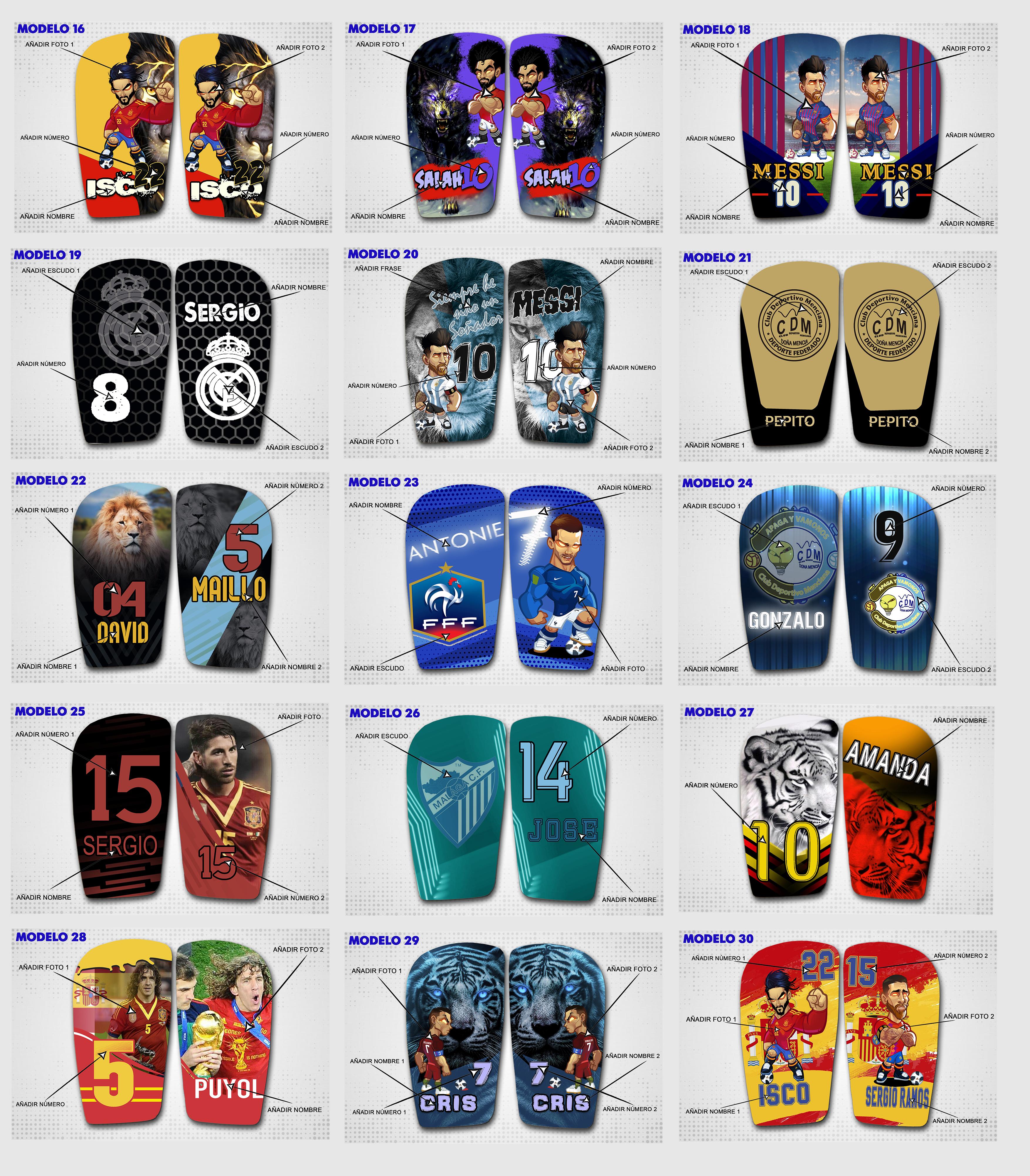 Diseños predefinidos 16-30